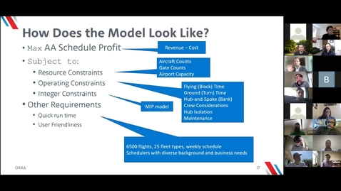 Thumbnail for entry How Operations Research and Machine Learning are Reshaping the Aviation Industry - Deepak Agrawal, American Airlines, 04/16/2021