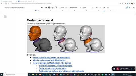 Thumbnail for entry Meshmixer - video 1