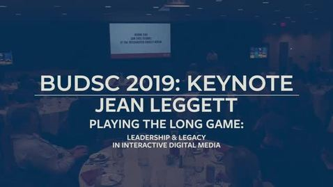 Thumbnail for entry JEAN LEGGETT | BUDSC 2019 - FRIDAY KEYNOTE | OCT. 11, 2019
