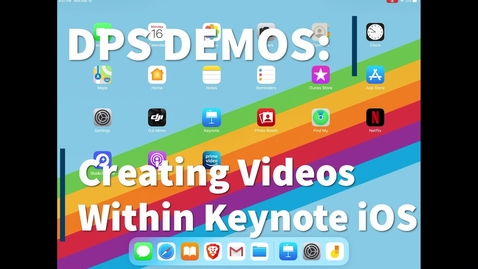 Thumbnail for entry Using Keynote on iOS for video instruction