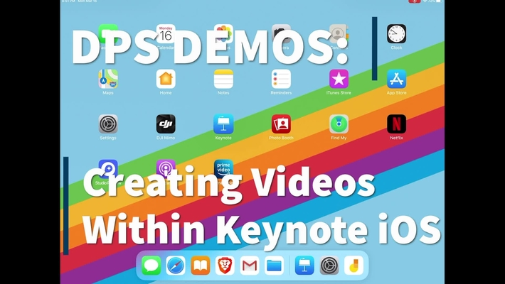 Using Keynote on iOS for video instruction