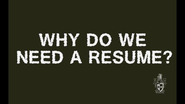 why do i need a resume resume writing swinburne commons