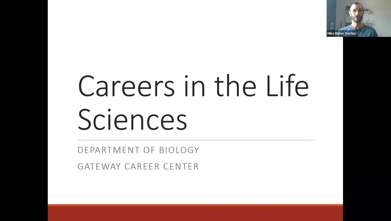 Careers in the Life Sciences Session (Spring 2021)