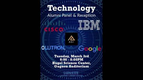 Thumbnail for entry Technology Alumni Panel - March 2020