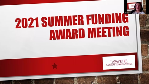 Thumbnail for entry 2021 Summer Funding Award Meeting