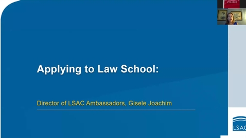 Thumbnail for entry How to Apply to Law School with LSAC's Credential Assembly Service (CAS)