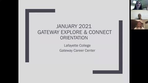 Thumbnail for entry 2021 Gateway Explore & Connect - Virtual Orientation (November 2020)