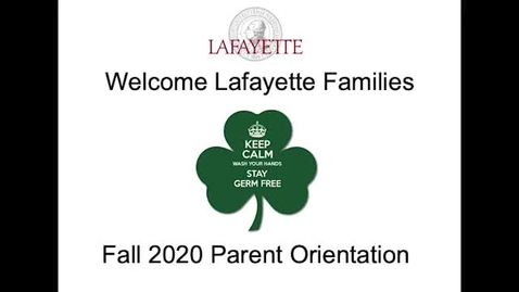 Thumbnail for entry 2020 Parent Orientation Session
