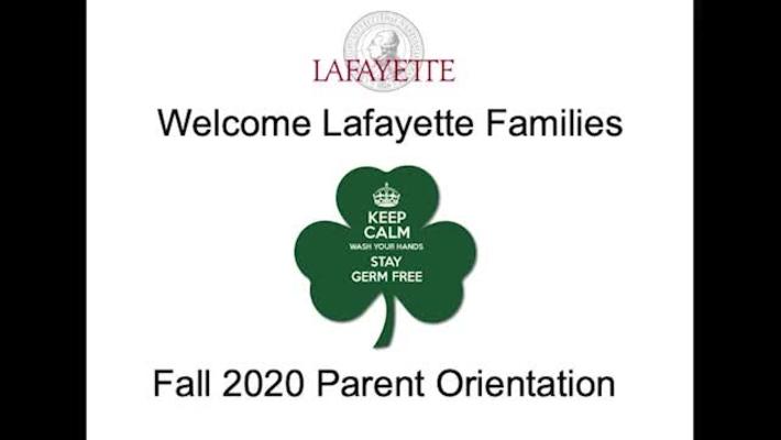 2020 Parent Orientation Session
