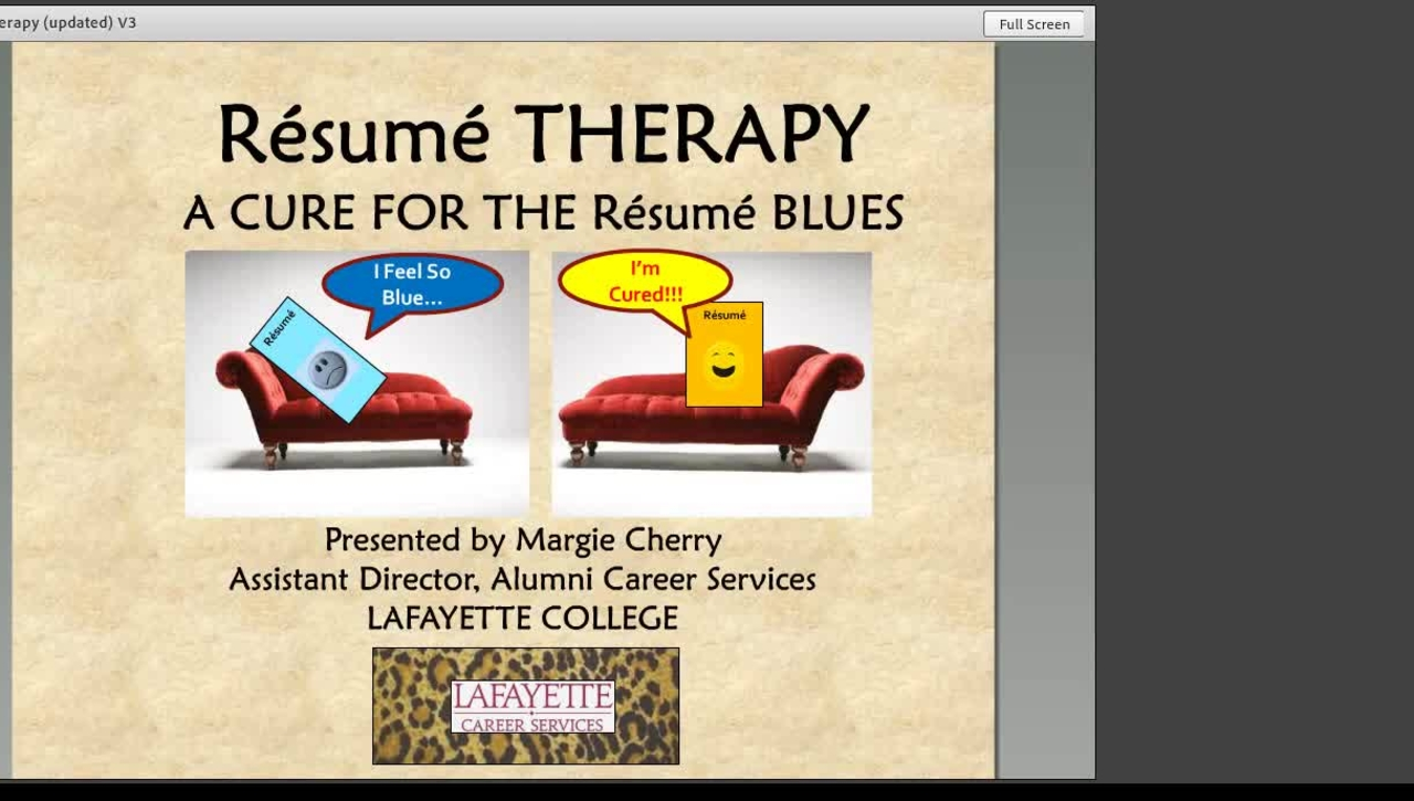 Resume Therapy Webinar
