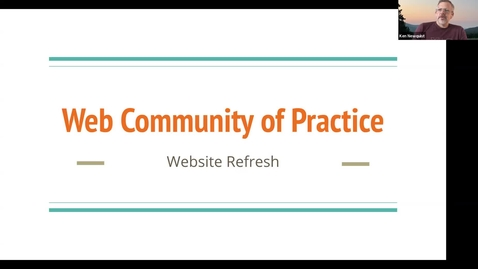 Thumbnail for entry Web Community of Practice Sept. 2021