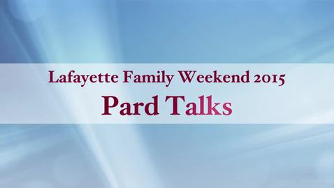 Thumbnail for entry Lafayette Pard Talks: Diploma to Pay Gap