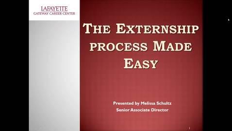 Externship Process Made Easy