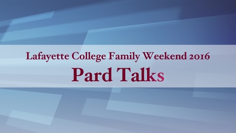 Thumbnail for entry Pard Talks 2016 - What's the big deal about data?  The Promise to Fix the World
