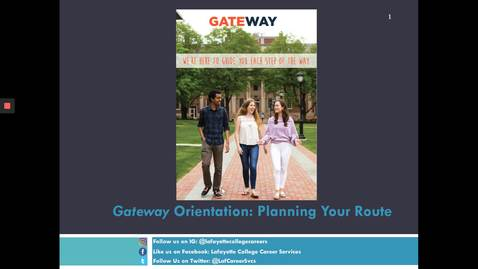 Thumbnail for entry Virtual First Year Gateway Orientation (Spring 2020)