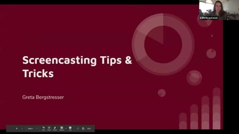Thumbnail for entry Screencasting Tips and Tricks