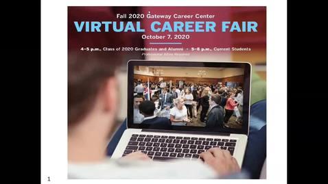 Thumbnail for entry Virtual 2020 Career Fair Prep Workshop
