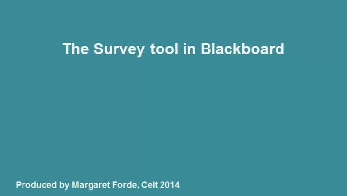 Creating Survey in Blackboard