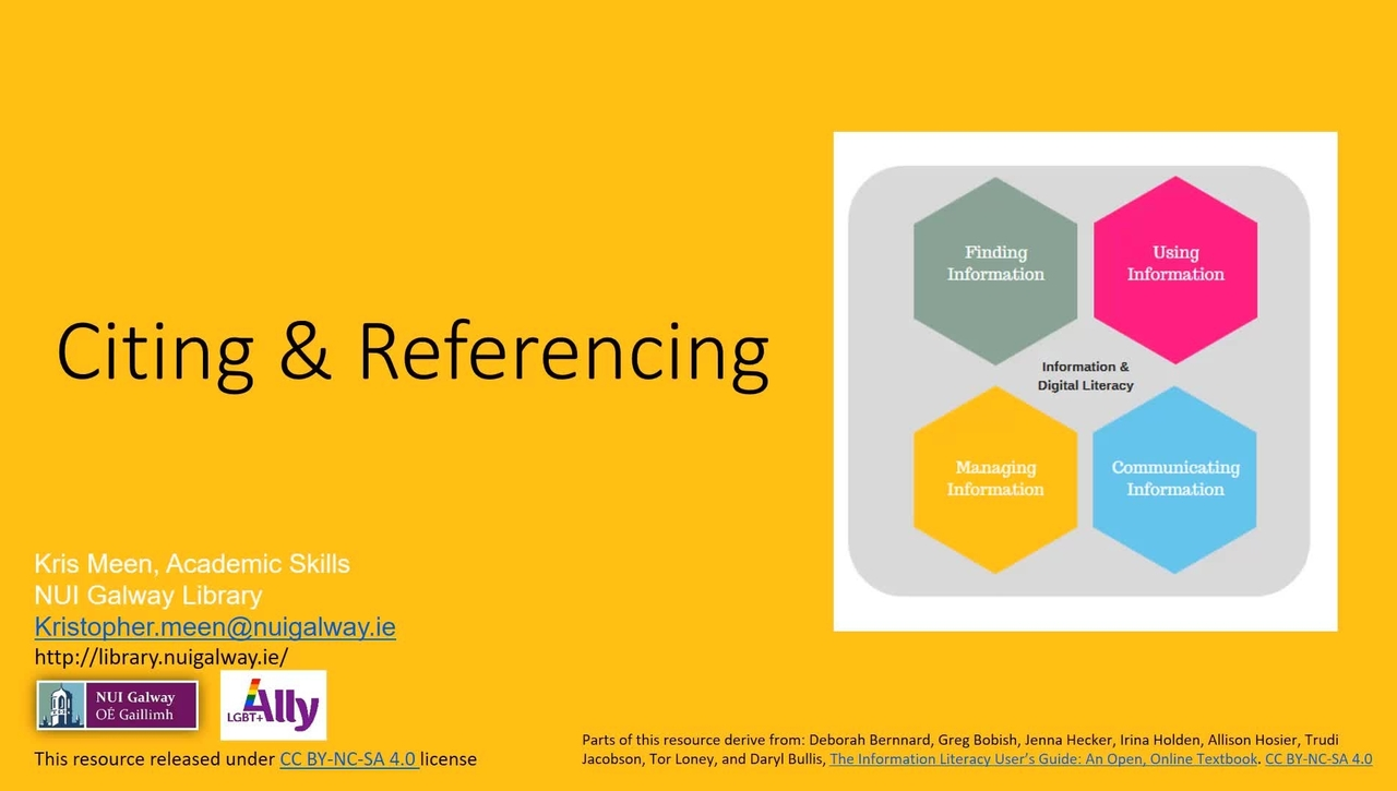Citing and Referencing Workshop