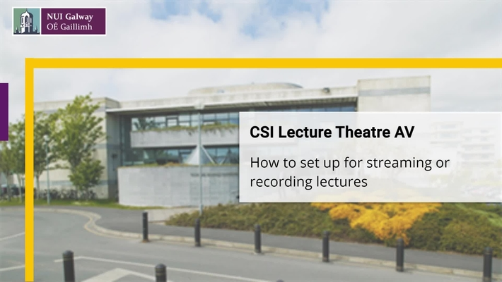 How to use the CSI Lecture Theatres -  AV Tutorial