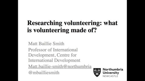 Thumbnail for entry Prof Matt Bailie Smith