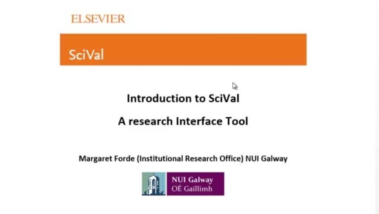 SciVal Introduction