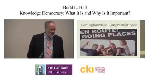 Thumbnail for entry Knowledge Democracy: What is it and Why is it important?