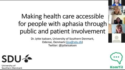 Thumbnail for entry Dr Jytte Isaksen seminar