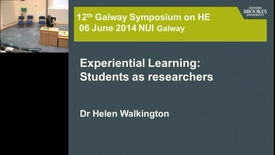"Thumbnail for entry ""Experimental Learning: Students as Researchers"""