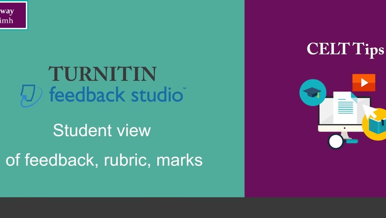 Turnitin: student view of feedback studio