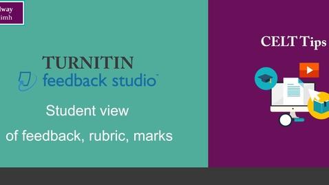 Thumbnail for entry Turnitin: student view of feedback studio