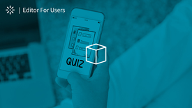 Thumbnail for entry How to Create a Quiz Using Kaltura Editor