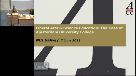 Liberal Arts & Science Education: The Case of Amsterdam University College - Marijk van der Wende