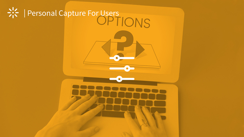 Thumbnail for entry How to Set the Recording Options in Kaltura Personal Capture