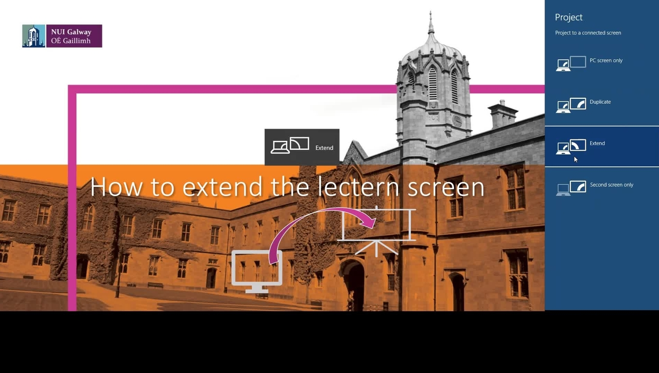 How to extend the screen