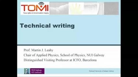 Thumbnail for entry Martin Leahy Seminar on Technical Writing