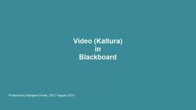Thumbnail for entry Kaltura (Video) in Blackboard