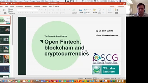 Thumbnail for entry Open Scholarship Cafe: Open Finance (2 July 2020)