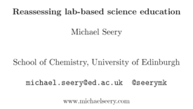 Thumbnail for entry Reassessing lab-based science education - Michael Seery