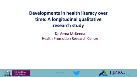 Thumbnail for entry Dr Verna McKenna seminar