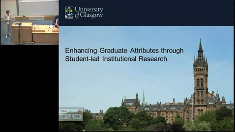 "Thumbnail for entry ""Enhancing Graduate Attributes through Student-led Institutional Research"""