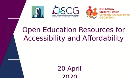 Thumbnail for entry Open Educational Resources for Affordability and Accessibility