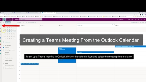 Thumbnail for entry Teams meeting via Outlook calendar