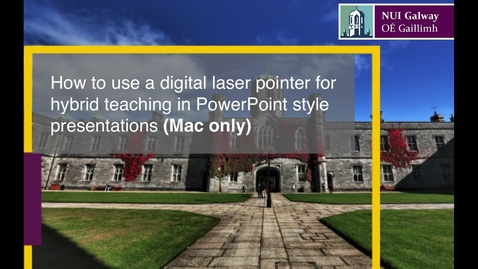 Thumbnail for entry [Mac Only!] How to use a digital laser pointer for hybrid teaching in PowerPoint style presentations using an iPhone or iPad as a remote.