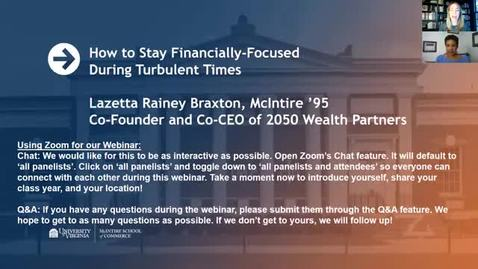 How to Stay Financially-Focused During Turbulent Times with Lazetta Rainey Braxton (McIntire '95)