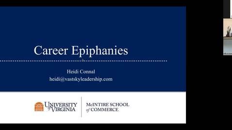 Thumbnail for entry Career Epiphany Webinar with Heidi Connal (McIntire '94)