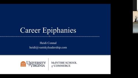 Thumbnail for entry Career Epiphany Webinar with Heidi Connal (McIntire '94)