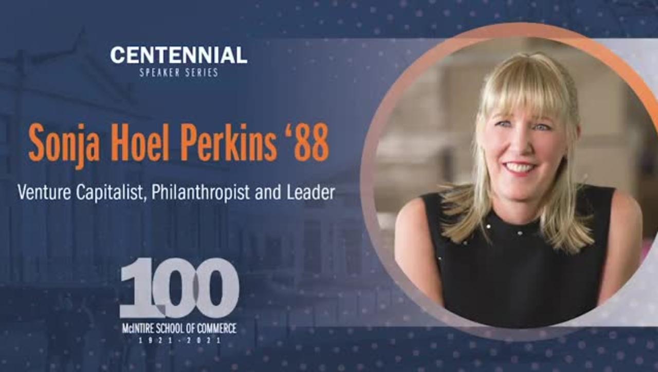 McIntire Centennial Speaker Series: A Conversation with Sonja Hoel Perkins '88
