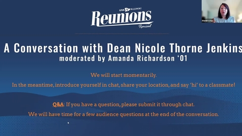 Thumbnail for entry Reunions Remixed: A Conversation with Dean Nicole Thorne Jenkins