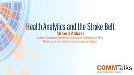 Thumbnail for entry Health Analytics and the Stroke Belt – Ahmed Abbasi